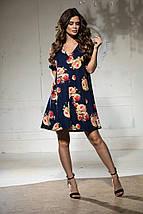 Вільне плаття А-силуету середньої довжини 9 кольорів, р. 46-48,50-52 Код 1018В, фото 2