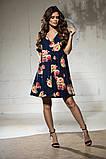 Свободное платье А силуэта средней длины 9 цветов, р.46-48,50-52  Код 1018В, фото 2