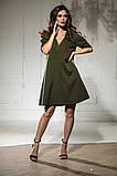 Свободное платье А силуэта средней длины 9 цветов, р.46-48,50-52  Код 1018В, фото 9