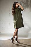 Свободное платье А силуэта средней длины 9 цветов, р.46-48,50-52  Код 1018В, фото 10