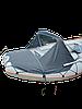 Носовой тент для лодки Kolibri 360 DSL серый
