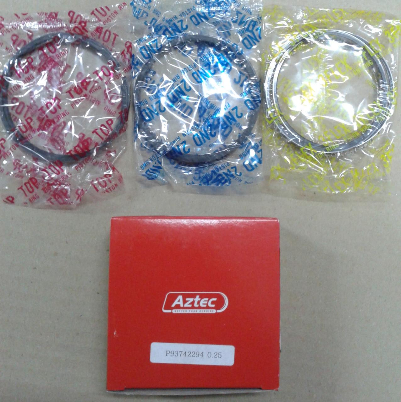 Кільця поршневі Ланос 1.5 +0.25 AZTEC 93742294