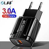 Быстрая зарядка OLAF Qualcomm QC 3.0 18 Вт, фото 5