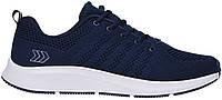 Мужские кроссовки лето сетка для бега спортзала комфорт стильные легкие дышащие синие 44 размер Restime 21121