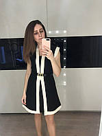 Женское черное коктейльное платье