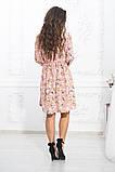 Комбинированное летнее платье на кокетке с пышной юбкой, 5 цветов, р.44-46,48-50,52-54 Код 1004В, фото 6