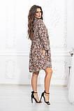 Комбинированное летнее платье на кокетке с пышной юбкой, 5 цветов, р.44-46,48-50,52-54 Код 1004В, фото 10