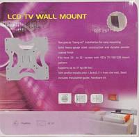 "Кронштейн настенный для телевизора Wall Mount SL04 от 23"" до 32"", до 37кг, Кронштейн, Кронштейн телевизора, Кронштейн настенный"