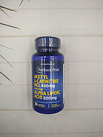 Puritan's pride Acetyl L-Carnitine 400 mg with Alpha Lipoic Acid 200 mg 30 caps ацетил л-карнитин +