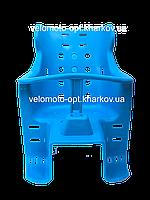 Велокресло на багажник прочный пластик для ребенка Синий