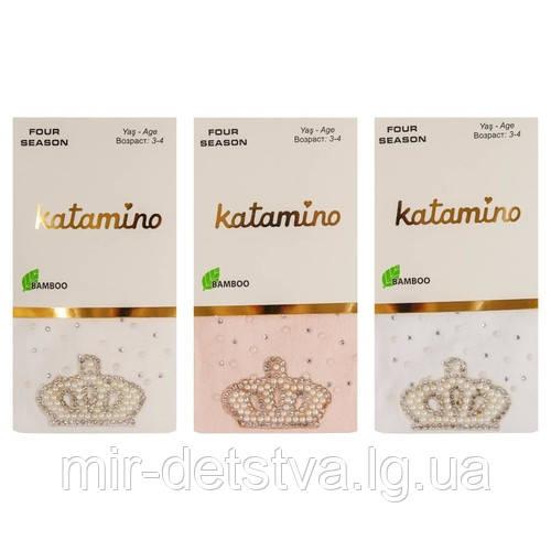 Нарядные колготки для девочек TM Katamino оптом, Турция р.1-2 (86-92 см)