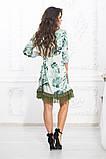 Свободное платье А силуэта средней длины с оборкой из сеточки 5 цветов, р.42-44,46-48,50-52  Код 1002В, фото 10