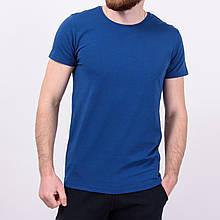 Мужская голубая однотонная футболка Турция \ Чоловіча блакитна однотонна футболка Туреччина