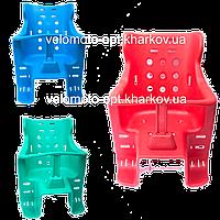 Велокресло на багажник прочный пластик для ребенка