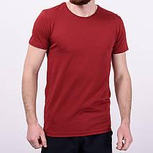 Мужская красная однотонная футболка Турция \ Чоловіча червона однотонна футболка Туреччина