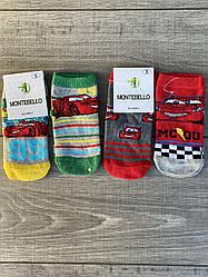 Дитячі шкарпетки Montebello тачка Маквін 3,5 років 12 шт в уп мікс кольорів