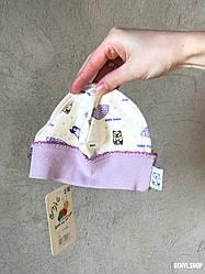 """Нежная шапочка """"Мишка"""" Premium качества для новорожденного."""