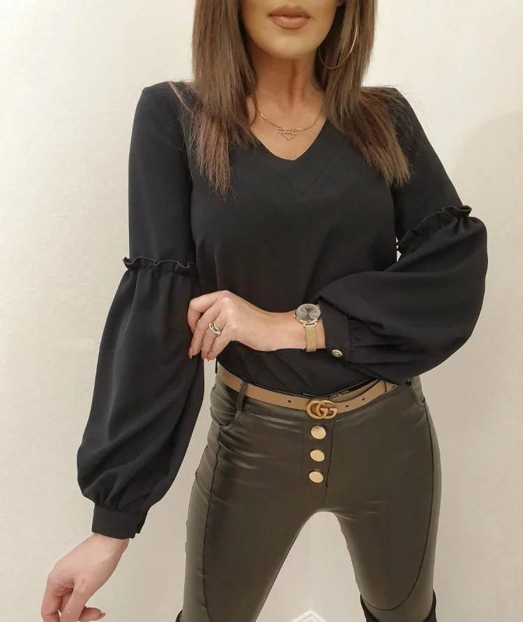"""Розкішна блуза з об'ємними рукавами """"Адель"""""""