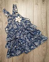 Детский джинсовый сарафан для девочки размер 80 на 1-2 года Турция  код 8580