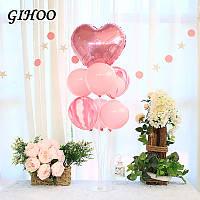 Прозрачная пластиковая складная подставка в комплекте с шарами ( розовый)