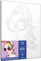 Набір-стандарт, картина за номерами Квітковий образ, фото 1