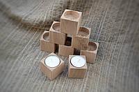 Подсвечник-кубик  маленький ( 4,5*4,5*4,5 см. )