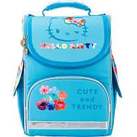Рюкзак школьный каркасный (ранец) Kite 501 Hello Kitty-2, для девочек, голубой (HK17-501S-2)