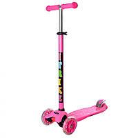 Самокат детский 3-х колесный iTrike JR 3-003-B (Розовый)