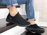 Летние кроссовки Nike Free Run 3.0,сетка,черные, фото 3