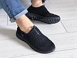 Летние кроссовки Nike Free Run 3.0,сетка,черные, фото 4
