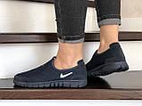 Женские кроссовки летние Nike Free Run 3.0,темно синие, фото 2