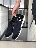 Женские кроссовки летние Nike Free Run 3.0,черно белые, фото 2