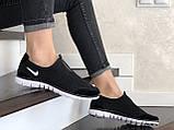 Женские кроссовки летние Nike Free Run 3.0,черно белые, фото 4