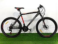 """Спортивный горный велосипед 29 дюймов Azimut Аzimut Spark 29"""" FR/D рама 19"""" черно-красный"""