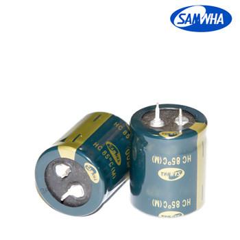 390mkf - 400v  HC 30*45  SAMWHA, 85°C конденсатор електролітичний