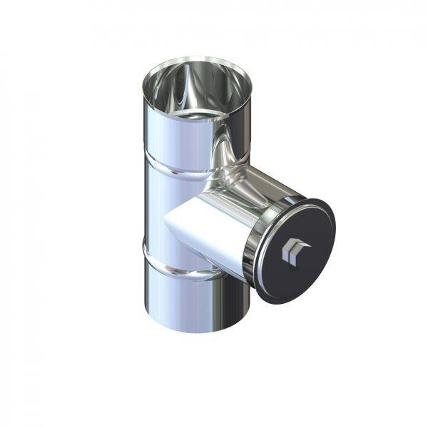 Ревизия дымоходная нержавейка D-110 мм толщина 0,8 мм