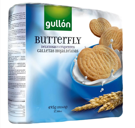 Печиво GULLON Butterfly 495 гр, фото 2
