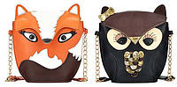 Сумочки лисичка и совенок!  Интересная сумка. Модная сумка. Женская сумка. Доступная цена. PU кожа. Код: КЕ109