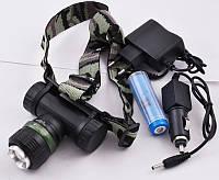 Фонарик налобный Police BL-6957-2 три режима, от аккумулятора 18650/от батареек, 600м, 8800 мА/ч, Налобный фонарь, Фонарь