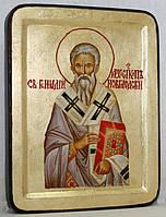Икона греческая Геннадий Новгородский золото, фото 1