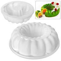 """Форма силикон """"Royal"""" N02050 белый, 19.5*5.5см, цельная форма, товары для кухни из силикона, формы для выпечки, посуда, силиконовая форма"""