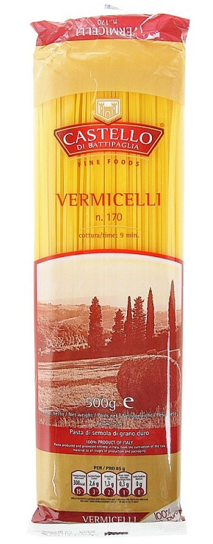 Спагеті Vermicelli Castello di Battipaglia N.170