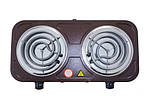 Плита электрическая двухконфорочная Crownberg - CB-3745 (узкий тэн), фото 3