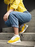Женские кроссовки Adidas ZX 500 Yellow White