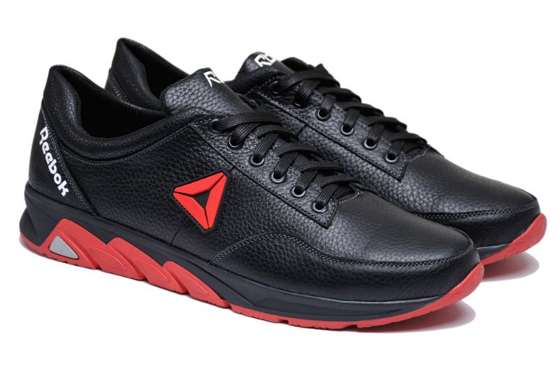 Чоловічі кросівки натуральна шкіра чорні р. 46 47 48 49 50