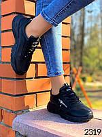 Женские повседневные кроссовки черные Хит 2020 36-41 размер