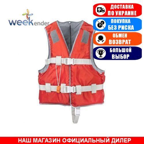 Жилет страховочный Weekender XXL/90-100кг. Полиэстер; (Спасательный жилет YW1218 XXL red).