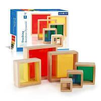 Игровой набор Guidecraft Набор блоков Block Play Цветная пирамидка (G5066)