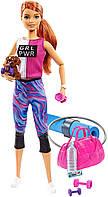 Кукла Барби Рыжая Фитнес йога с собачкой Barbie Fitness Doll, фото 1