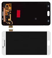 Дисплей Samsung N9200, N920C, N920F Galaxy Note 5 модуль в сборе с тачскрином, белый, Original